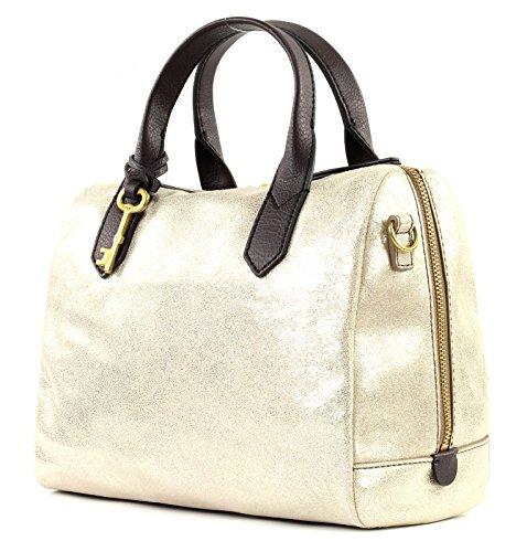 Fossil Rachel Satchel Gold Metallic Damen Hand Tasche Schulter Umhänge Taschen Leder Damentasche Ledertasche ZB7428-751 5d4qgUvpL
