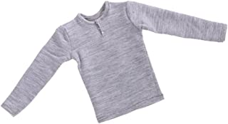 MonkeyJack 1:6 Scale Outfit Gray Long Sleeved T-shirt for 12inch BBI DID Male Figures