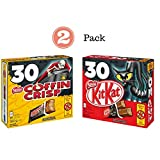 Nestle Canada Chocolate Halloween 2 Pack - Coffin Crisp Coffee Crisp 30x12g & Nestle Kit Kat 30x12g - Snack Size Bars
