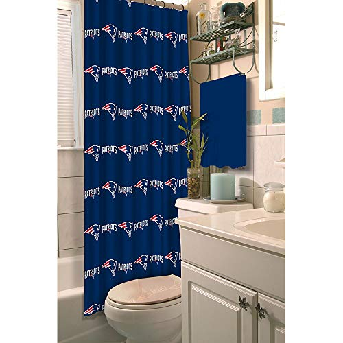 NFL New England Patriots Decorative Bath Collection - Shower Curtain - Logo Nfl Shower Curtain