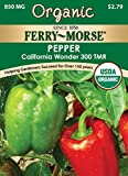 Search : Ferry Morse Organic California Wonder Pepper Seeds