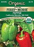 Ferry Morse Organic California Wonder Pepper Seeds