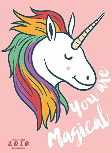 2018 Unicorn Monthly Planner