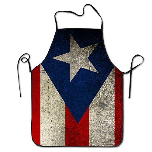 DSLLVWRR Puerto Rico Flag Vintage Restaurant Apron -