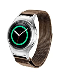 Welcomeuni Fashion 20MM Milanese Magnetic Loop Stainless Steel Watch Band + Connector For Samsung Galaxy Gear S2 RM-720 (CO)
