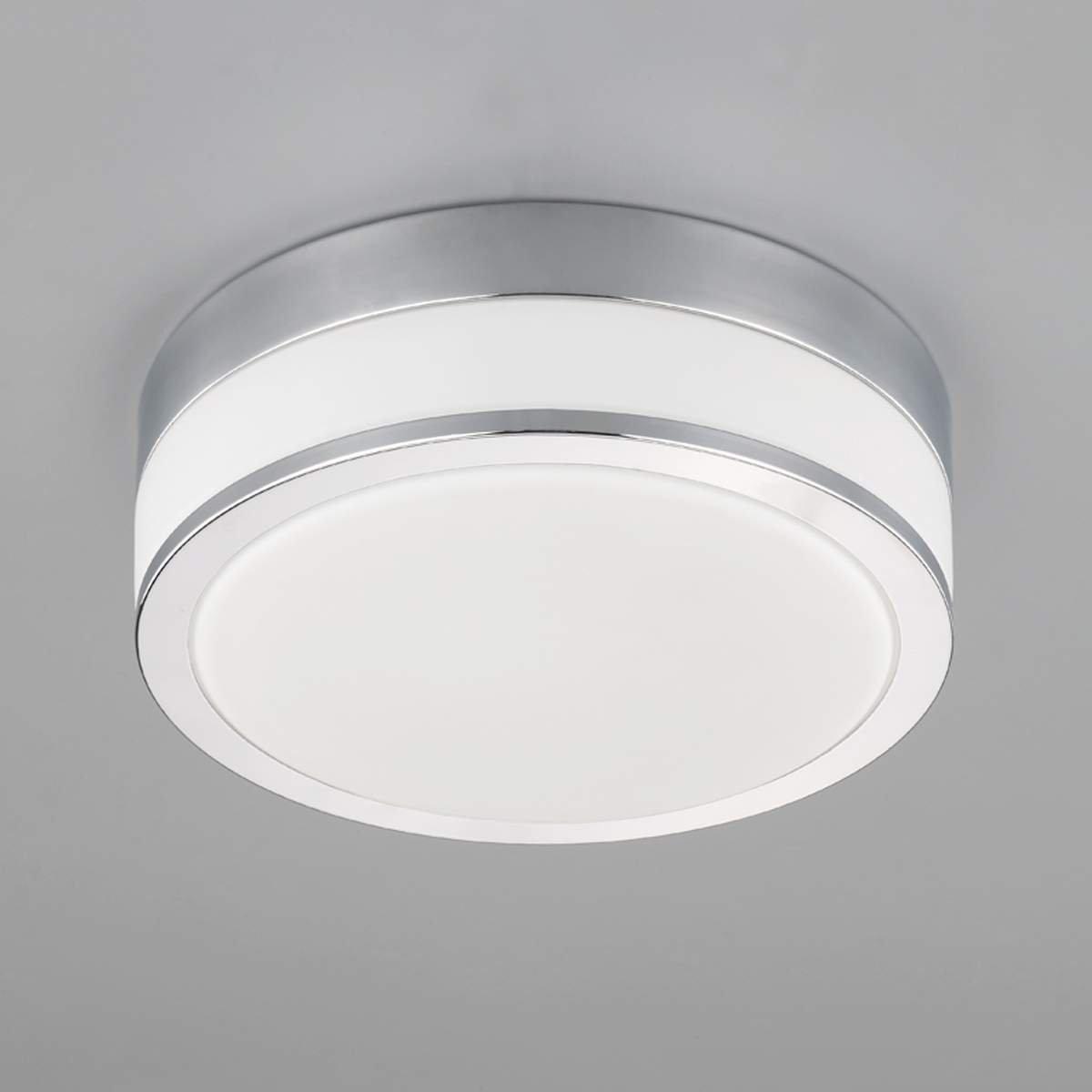 Plafonnier Salle De Bain Flavi /à intensit/é variable de Lampenwelt /à 2 lampes, E27, A++ Moderne Lampe Plafond pour Salle de bain a Luminaire Plafonnier en Blanc en Verre e Plafonnier WC
