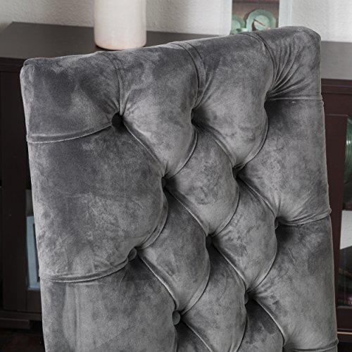 Great Deal Furniture (Set of 2) Myrtle Velvet Charcoal Dining Chair by Great Deal Furniture (Image #1)