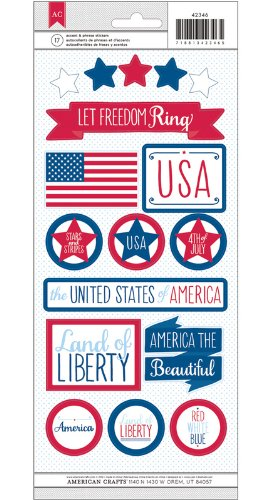 - American Crafts Summer-Sticker-Let Freedom Ring