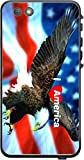 I Love America Quote USA Flag with Eagle Design Print Image Lifeproof Nuud iPhone 6 Plus Vinyl Decal Sticker Skin