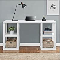 Mainstays Double Pedestal Parsons Desk (White)