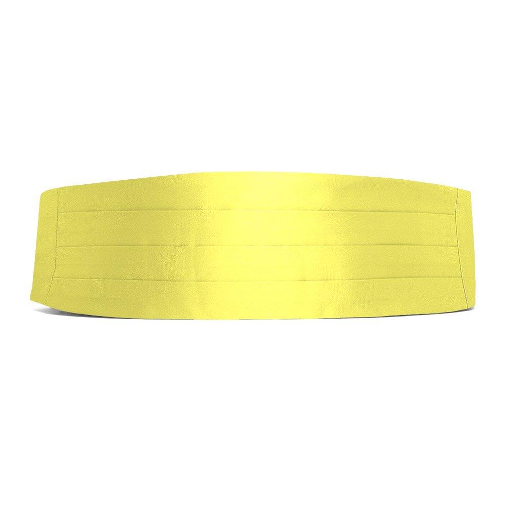 TieMart Daffodil Yellow Cummerbund AC00CM-1078
