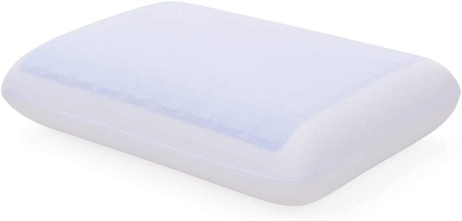 Classic Brands Reversible Gel and Memory Foam Neck Pillow, Standard, White