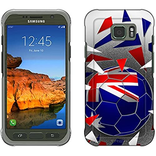 Samsung Galaxy S7 Active Case, Snap On Cover by Trek Soccer Ball Australia Flag Slim Case Sales