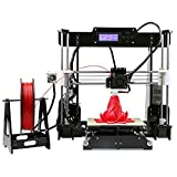 """Coocheer Upgraded 3.5 LCD Screen High Accuracy Desktop 3D Printer I3 Metal Frame Modularize DIY Kit Self-assembly 8.6×10.5×9.0"""" Printing Size with 8GB SD card US PLUG COOCHEER Printers"""