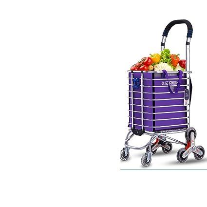 DXG&FX Carrito de la compra Comprar un carrito de verduras Carrito pequeño Subir al suelo Plegable