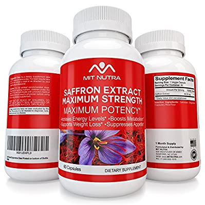 Saffron For Weight - Carb Blocker - 2017 / 2018 Best Selling Diet Pill, Fat Burner, Appetite Suppressant Works For Men And Women By Mit Nutra