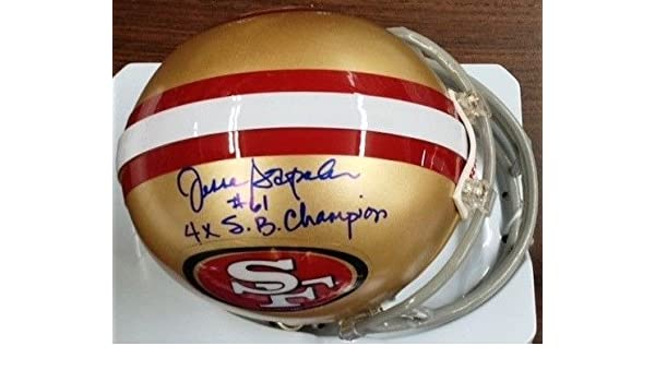 39243fd4a Amazon.com: Jesse Sapolu Signed Autograph 49ers Mini Helmet +