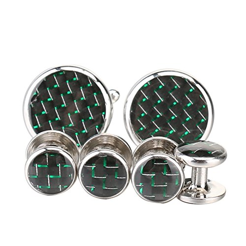 Gold Green Cufflinks - 6
