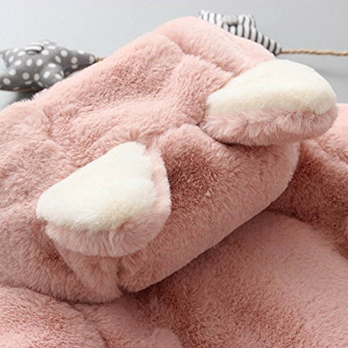 Infant Toddler Baby Girl Winter Warm Rabbit Ears Hoodies Fur Coat Thick Outerwear Snowsuit Jackets(Pink,13/110) by yijiamaoyiyouxia accessory (Image #5)