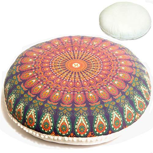 Organic Printed - Mandala Life ART Bohemian Décor Floor Cushion - Insert Included - 30