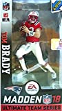 McFarlane Toys EA Sports Madden NFL 18 Ultimate Team Tom Brady New England Patriots Action Figure Minutemen Retro Uniform Exclusive