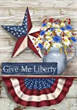 Cheap Patriotic Garden Flag Give Me Liberty