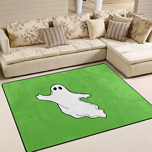 DEYYA Contemporary Halloween-Photos-Flying-Ghost-Clipart Design Non-Slip Area Rug, Cozy