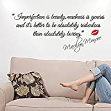 LSD -- Imperfection Is Beauty-marilyn Monroe Wall Sticker Quote Wall Decal Mural Words Art Wall Decor Decoration Vinyl Diy