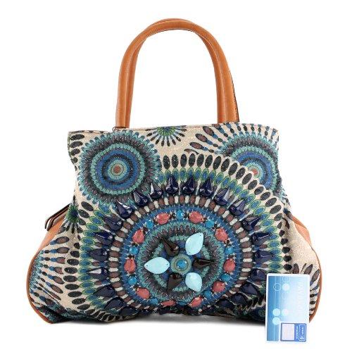 Blau Estilo De México Lk138064 Cuero Imitación Bolso Lookat Pwp100