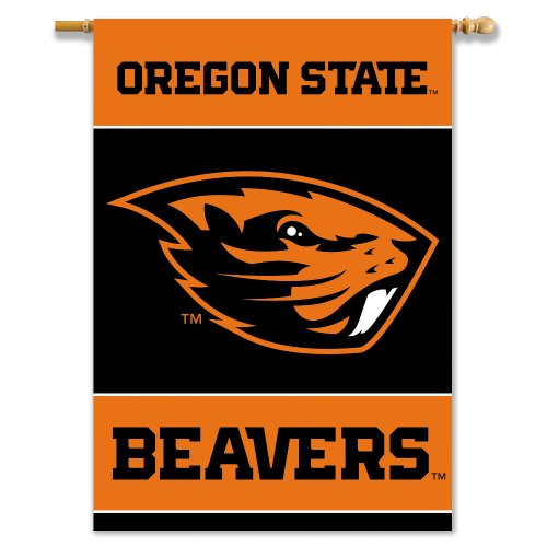 NCAA Oregon State Beavers 2-Sided 28-by-40 inch House Banner With Pole Sleeve - Oregon State Basketball