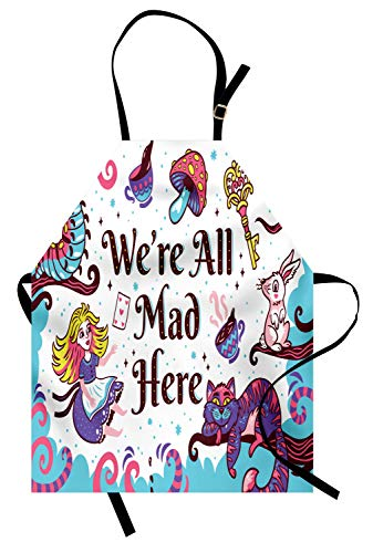Cheshire Cat Alice In Wonderland Costumes - Ambesonne Alice in Wonderland Apron, We