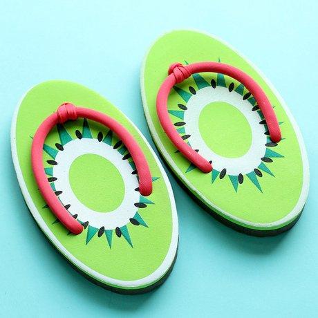 Vrouwen Zomerfruit Plastic Huis Badkamer Strand Slipper Flip-flops-watermeloen / Druif / Sinaasappel / Ananas / Aardbei Kiwi