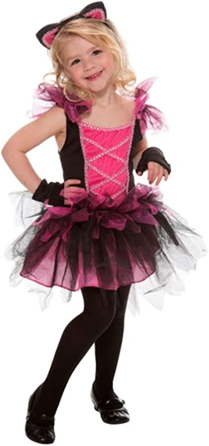 Toddler Girls Pink Kitty Cat Cutie Costume Tutu Dress Headpiece Legwarmers