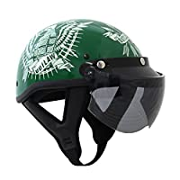 Outlaw Universal 3 Snap-Button Visor with Flip-up Light Smoke Shield - One Size by Outlaw Helmets