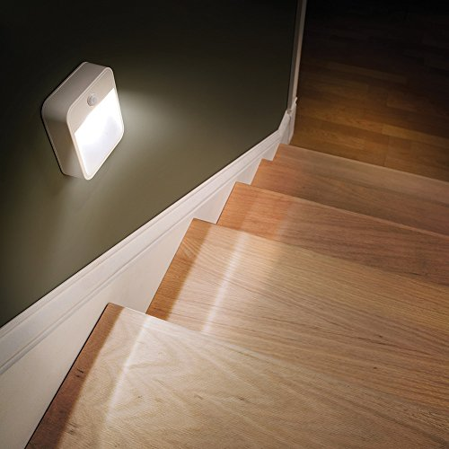 Mr Beams MB 723 MB723 Battery-Powered Motion-Sensing LED Stick-Anywhere Nightlight, 3-Pack, White, 3
