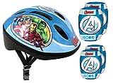 Stamp Set Includes Protective Helmet + Genouilleres Coudieres Bike–Avengers av299507