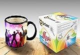 Heat Sensitive Morphing Mug | Color Changing Coffee Mug | Funny Coffee Cup | Party Magic Mug 11oz black mug| Funny Coffee/Tea Cup | 100% Ceramic| Great Gift Idea