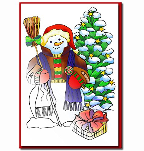 Christmas Cards for Coloring by Adults and Children |10 Cards to Color | Envelopes Included