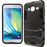 Galaxy J3 V case, Galaxy Sol case, Galaxy J3 Case (2016), CoverON [Shadow Armor Series] Dual Layer Hybrid Cover Kickstand Phone Case for Samsung Galaxy J3 V / J3 (2016) / Galaxy Sol - Gray