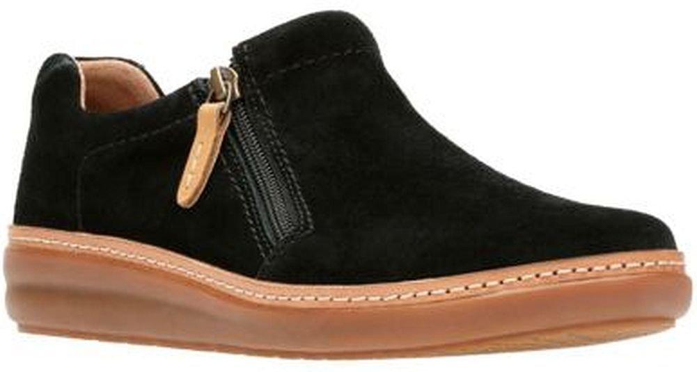 Clarks Amberlee Vita Womens Slip On Loafer Sneakers Black Suede 9.5