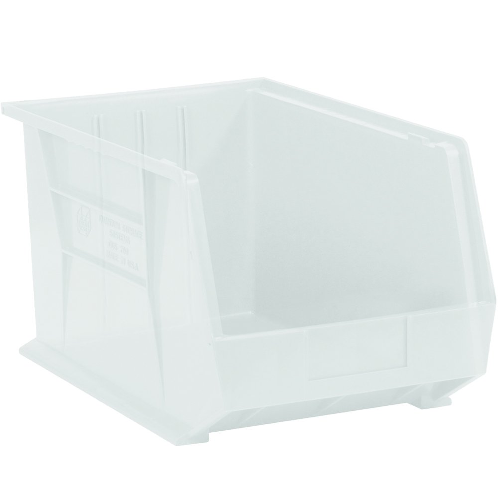 Aviditi BINP1087CL Plastic Stack and Hang Bin Boxes, 10 3/4'' x 8 1/4'' x 7'', Clear (Pack of 6)