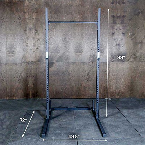 Squat Rack + Pullup Bar by Fringe Sport / 6' x 4' Footprint - 1,000lb Weight Capacity / Strength & Conditioning Exercises by OneFitWonder