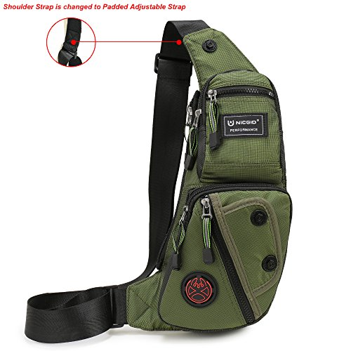 Waist Pack Utility - Nicgid Sling Bag Chest Shoulder Backpack Fanny Pack Crossbody Bags for Men(Army green)