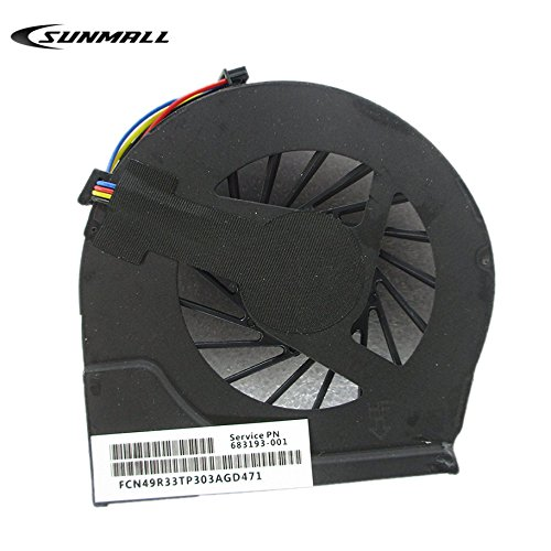 Sunmall CPU Cooling Fan for HP Pavilion G4-2000 G7-2000 G6-2000 G6-2010NR G6-2031NR G6-2033NR G6-2035NR G6-2037NR G6-2040CA G6-2040NR G6-2048CA G6-2052XX G6-2067CA G6-2073CA - 4 Pin, 4 Connector