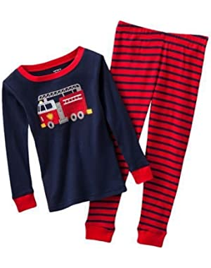 Carter's 2−pc. Red Stripe Fire Truck Pajama Set (9 Months)