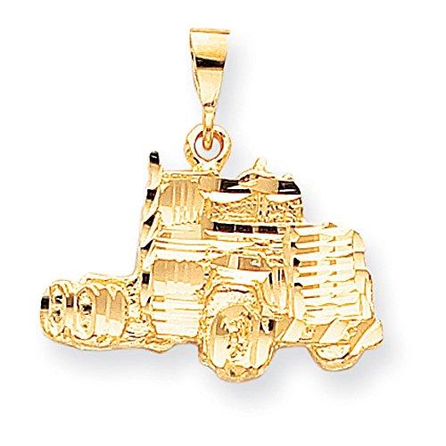 10 k diamant coupe Semi-solide-Camion-supérieure Doré Grade que JewelryWeb or 9 carats