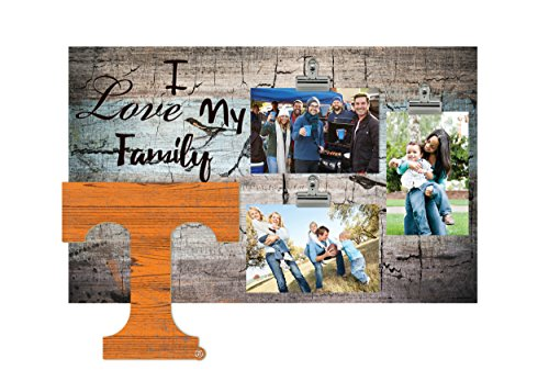 NCAA Tennessee Volunteers I Love My Family Clip-It Photo Frame