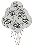 "12"" Happy New Year Confetti Balloons, 6ct"