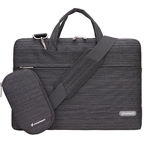 Slim Notebook Case (Laptop Shoulder Bag, 14 - 14.1 Inch Laptop Case, Slim Briefcase Computer Bag Business Carrying Bag Waterproof Notebook Messenger Bag Sleeve For Lenovo ASUS Dell Acer Samsung Chromebook 14 - Dark Grey)