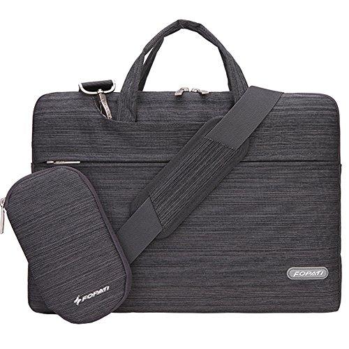 Laptop Bag 15.6 Inch, FOPATI 15 - 15.6 Inch Laptop Sleeve Case Briefcase Shoulder Bag Messenger Bag for Macbook Pro 15, ASUS X551MA, Dell Inspiron, Acer Aspire, HP Pavilion, Lenovo IdeaPad - Grey